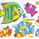 Bathroom and Window stickers, Plastic, Assorted colours, 56cm x 21cm, 1 sheet, (JDC232)